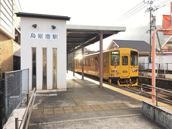 島原鉄道「島原港駅」